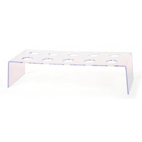 Ständer Transparent für 10 Sektflöten (1 Stück)