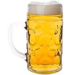 Bierkrug Transparent SAN Mehrweg 500ml (6 Stück)