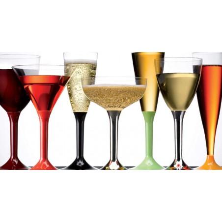 Weinglas Transparent Plastik 130ml (100 Stück)
