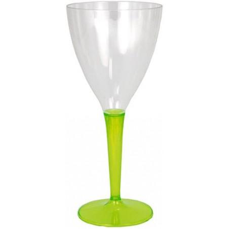 Weinglas mit grünem Fuß einteilig 130ml zweiteilig (60 Stück)