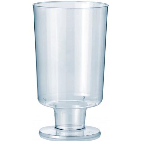 Glas aus Plastik mit Fuβ 150ml (12 Stück)