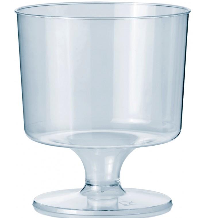 Glas aus Plastik mit Fuβ 170ml (10 Stück)
