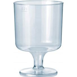 Glas aus Plastik mit Fuβ 200ml (10 Stück)