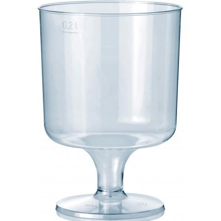 Glas aus Plastik mit Fuβ 200ml 1T (10 Stück)