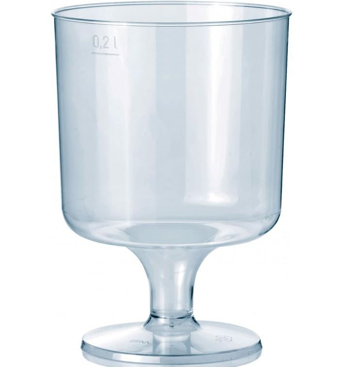 Glas aus Plastik mit Fu? 200ml 1T (400 Stück)