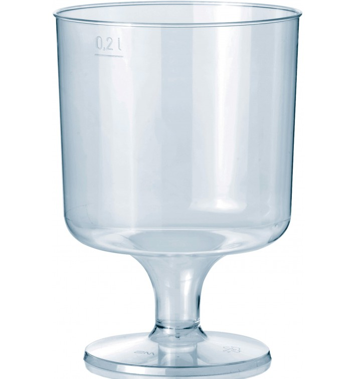 Glas aus Plastik mit Fu? 200ml 1T
