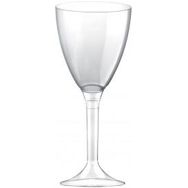 Glass aus Plastik für Wein Transparent Fuß 180ml (20 Stück)