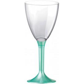 Glass aus Plastik für Wein Tiffany Fuß 180ml (20 Stück)