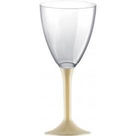 Glass aus Plastik für Wein cremefarbener Fuß 180ml 2T (20 Stück)