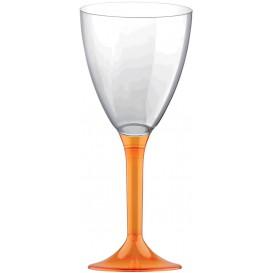 Glass aus Plastik für Wein Orange Transp. Fuß 180ml (20 Stück)