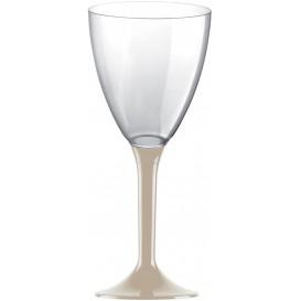 Glas aus Plastik für Wein beiger Fuß 180ml 2T (20 Stück)