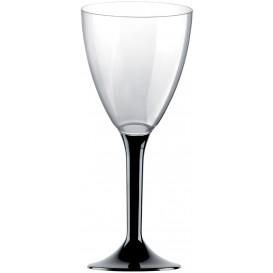 Glas aus Plastik für Wein schwarzer Fuß 180ml 2T (200 Stück)