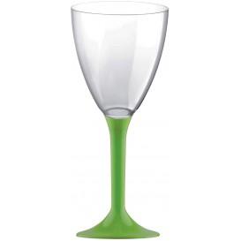 Glass aus Plastik für Wein Grasgrün Fuß 180ml (200 Stück)