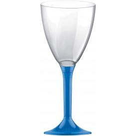 Glass aus Plastik für Wein Blau Transp. Fuß 180ml (20 Stück)