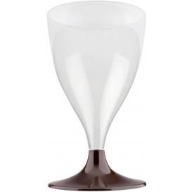 Glass aus Plastik für Wein Braun Fuß 200ml (200 Stück)