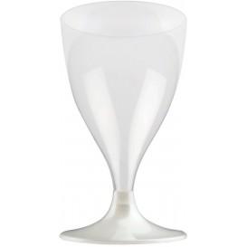 Glass aus Plastik für Wein Weiß Fuß 200ml (200 Stück)