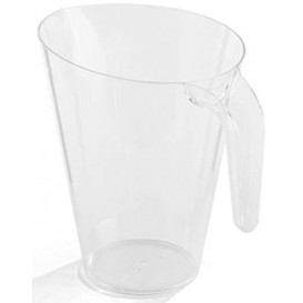 Plastikkrug 1.500ml Transparent Mehrweg (20 Stück)
