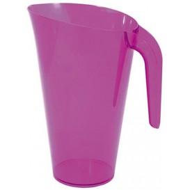 Plastikkrug 1.500ml Mehrweg Aubergine (1 Stück)
