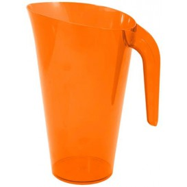 Plastikkrug 1.500ml Mehrweg orange (1 Stück)