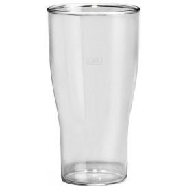 Plastikbecher für Bier Transp. SAN Ø73mm 350ml (100 Stück)