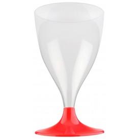Glass aus Plastik für Wein Rot Transp. Fuß 300ml (200 Stück)