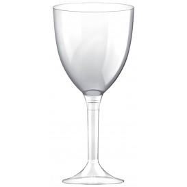 Glss aus Plastik für Wein transparenter Fuß 300ml 2T (20 Stück)