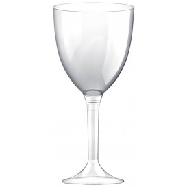 Glas aus Plastik für Wein transparenter Fuß 300ml 2T (200 Stück)