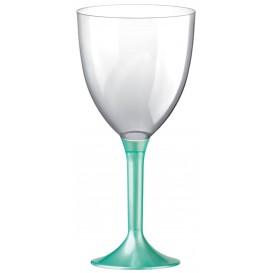 Glass aus Plastik für Wein Tiffany Fuß 300ml (20 Stück)