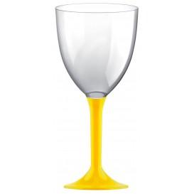 Glass aus Plastik für Wein Gelb Fuß 300ml (200 Stück)