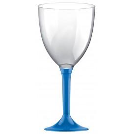 Glass aus Plastik für Wein Blau Transp. Fuß 300ml (20 Stück)
