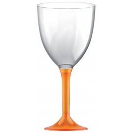 Glass aus Plastik für Wein Orange Transp. Fuß 300ml (20 Stück)