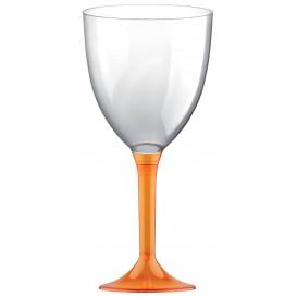 Glass aus Plastik für Wein Orange Transp. Fuß 300ml (200 Stück)