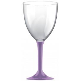 Glass aus Plastik für Wein Flieder Fuß 300ml (20 Stück)