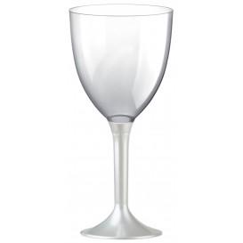 Glass aus Plastik für Wein Weiß Fuß 300ml (20 Stück)