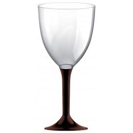 Glass aus Plastik für Wein Braun Fuß 300ml (20 Stück)