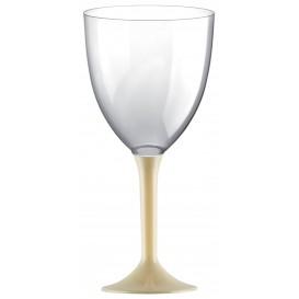Glass aus Plastik für Wein Creme Fuß 300ml (20 Stück)