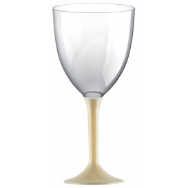 Glass aus Plastik für Wein Creme Fuß 300ml (200 Stück)