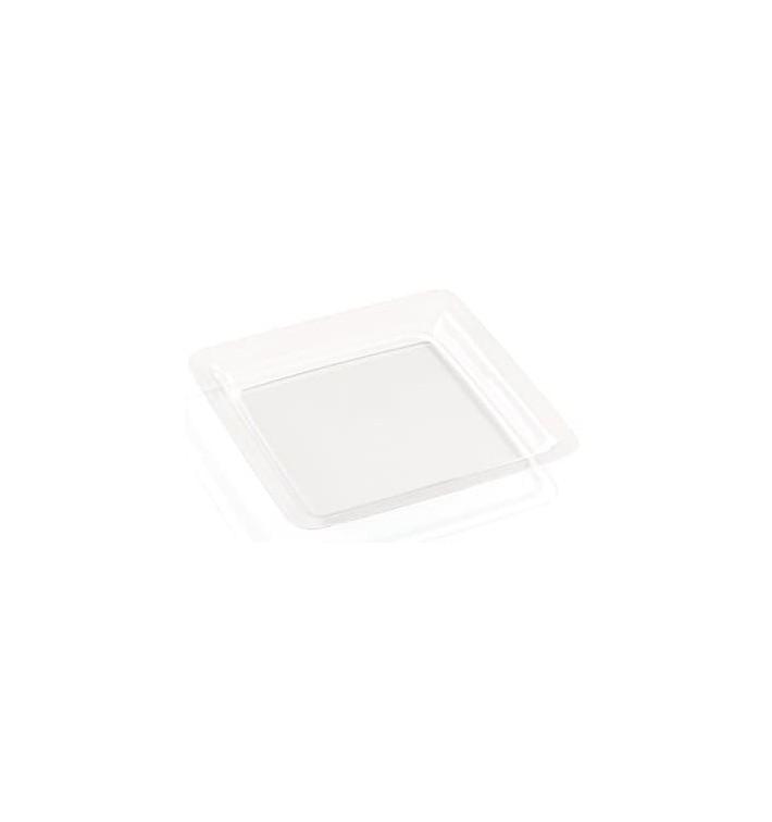 Plastikteller transparent Teller extra Stark 18x18cm (200 Stück)