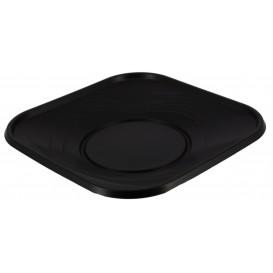 "Plastikteller PP ""X-Table"" Platz flach Schwarz 180mm (120 Stück)"