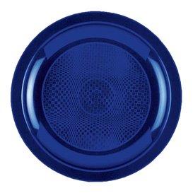 Plastikteller Flach Blau Round PP Ø185mm (50 Stück)