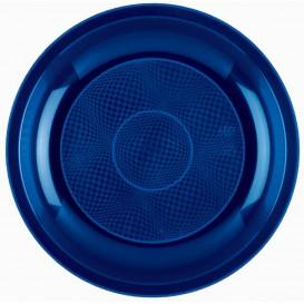Plastikteller Flach Blau Round PP Ø220mm (50 Stück)