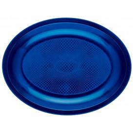 Plastiktablett Oval Blau Round PP 255x190mm (300 Stück)