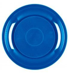 Plastikteller Blau Meerblau Round PP Ø185mm (50 Stück)