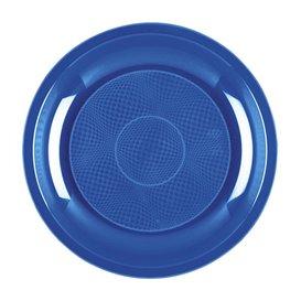 Plastikteller Blau Mittelmeer Round PP Ø185mm (600 Stück)