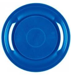 Plastikteller Flach Meerblau Round PP Ø220mm (600 Stück)