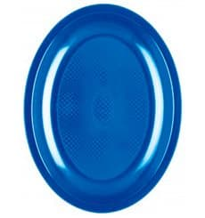 Plastiktablett Oval Meerblau Round PP 255mm (600 Stück)
