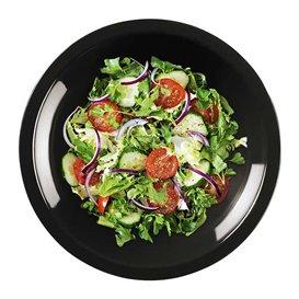 Plastikteller Rund Tief Schwarz Round PP Ø195mm (300 Stück)