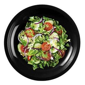 Plastikteller Flach Schwarz Round PP Ø220mm (300 Stück)