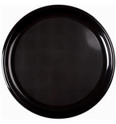 Plastikteller Rund für Pizza Schwarz Round PP Ø350mm (12 Stück)