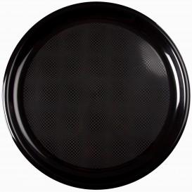 Plastikteller Rund für Pizza Schwarz Round PP Ø350mm (72 Stück)